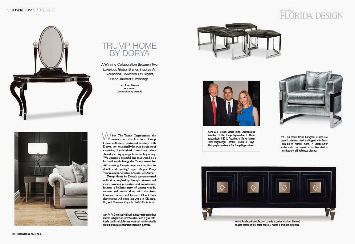 Dorya Interiors: Florida Design Magazine Features Trump Home By Dorya