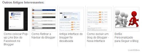 LinkWithin: Postagens Relacionadas com Miniaturas