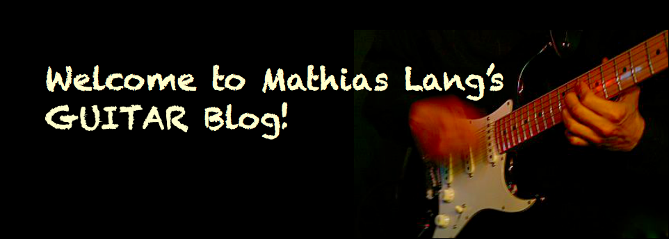 Mathias Lang's Guitar Blog