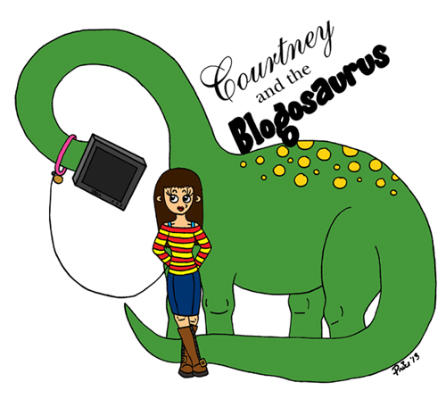 Courtney and the Blogosaurus