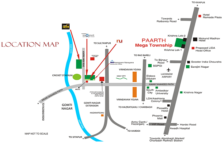 Paarth Republic Mega Township Location Map