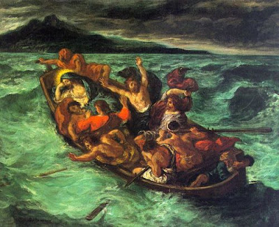 comparing the two paintings watteaus the storm and delacroixs christ on the sea of galilee Christ calming the storm on the sea of galilee oil painting by girolamo muziano brescia, the highest quality oil painting reproductions and great customer service.