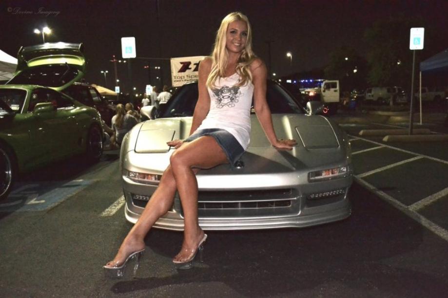Acura NSX, blondynka, panienki i samochody, fotki