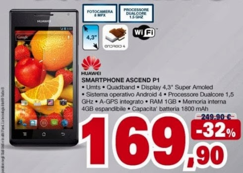 Se cercate uno smartphone android sottile e leggero con hardware discreto/buono l'Huawei Ascend P1 in offerta fa per voi