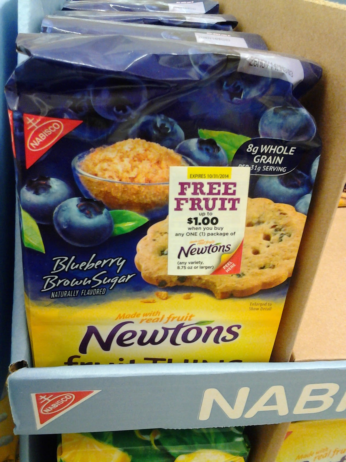 $1.00 off fruit when you buy Newtons coupon