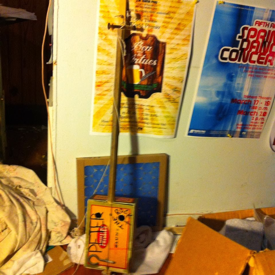A cigar box diddley bow