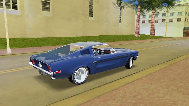 Ford Mustang Fastback Bullitt 1968 GTA Vice City