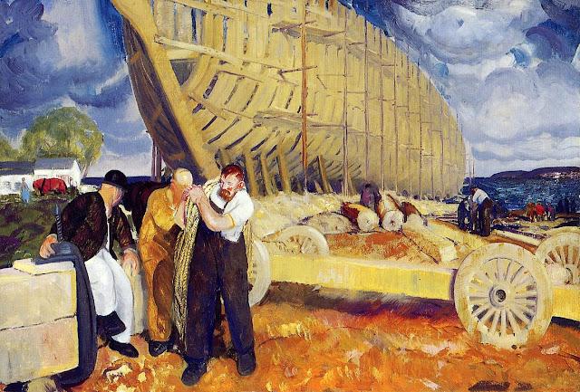 1916 Builders of Ships oil
