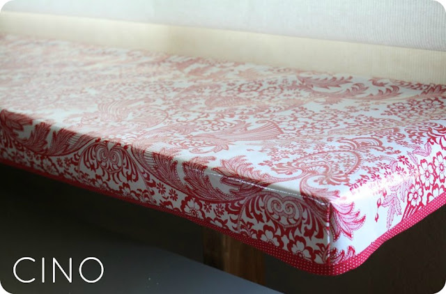 Fitted Oilcloth Tablecover Tutorial