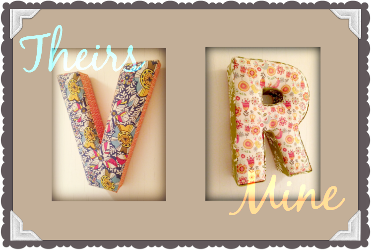 DIY Fabric Letter