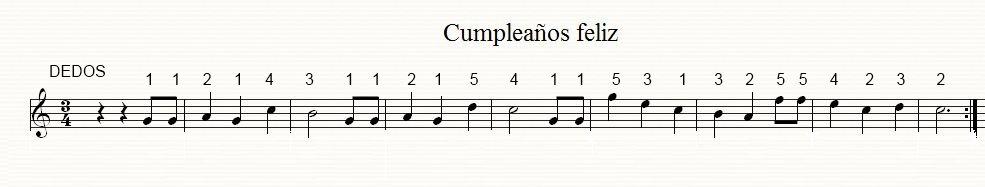Cumplea os feliz piano preparatorio aprender guitarra - Cumpleanos feliz piano ...