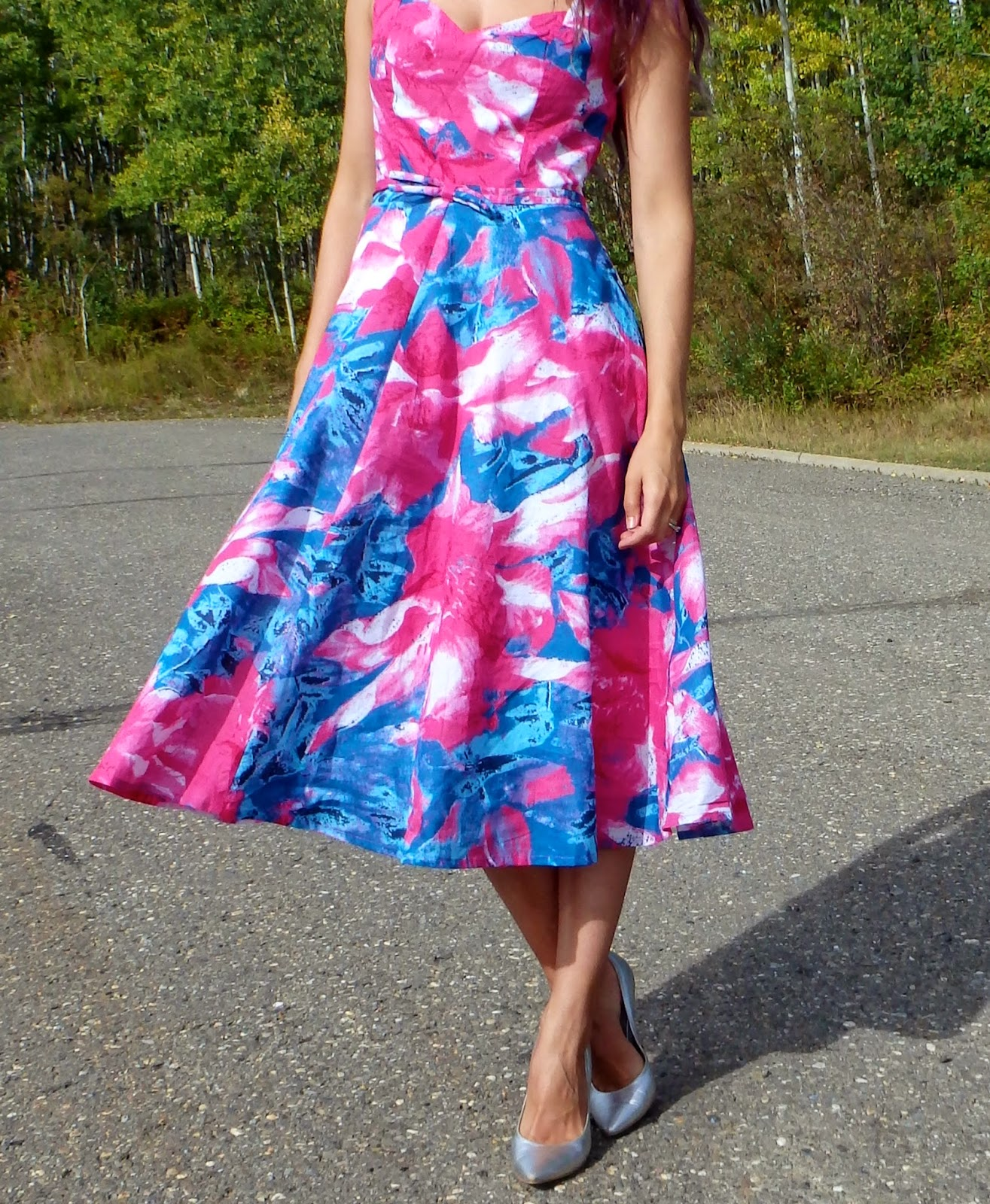 Hawaiian Print Dress