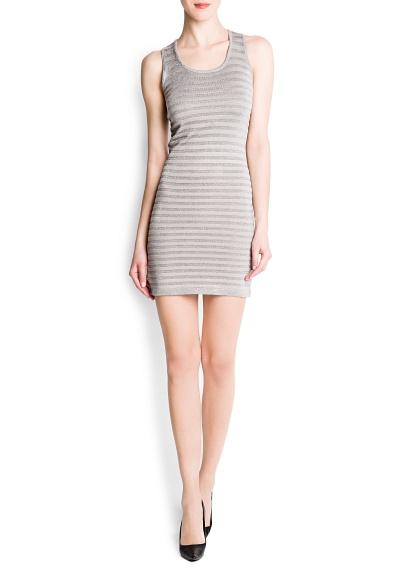 çizgili kısa elbise