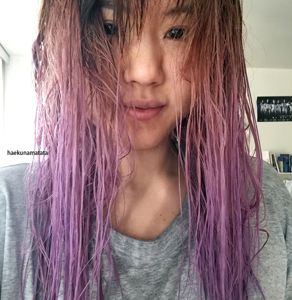 How to dye Asian hair lavender purple at home (all about bleaching ...