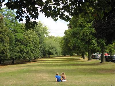 Leafy scene from Leamington in September