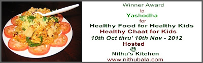 Round up Winning Badge from Nithu&#39;s Kitchen