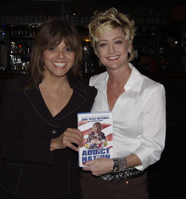 "Jane with Co-Author of ""Addict Nation"" -Sandra Mohr"