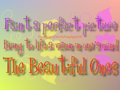 The Beautiful Ones - Mariah Carey Song Lyric Quote in Text Image