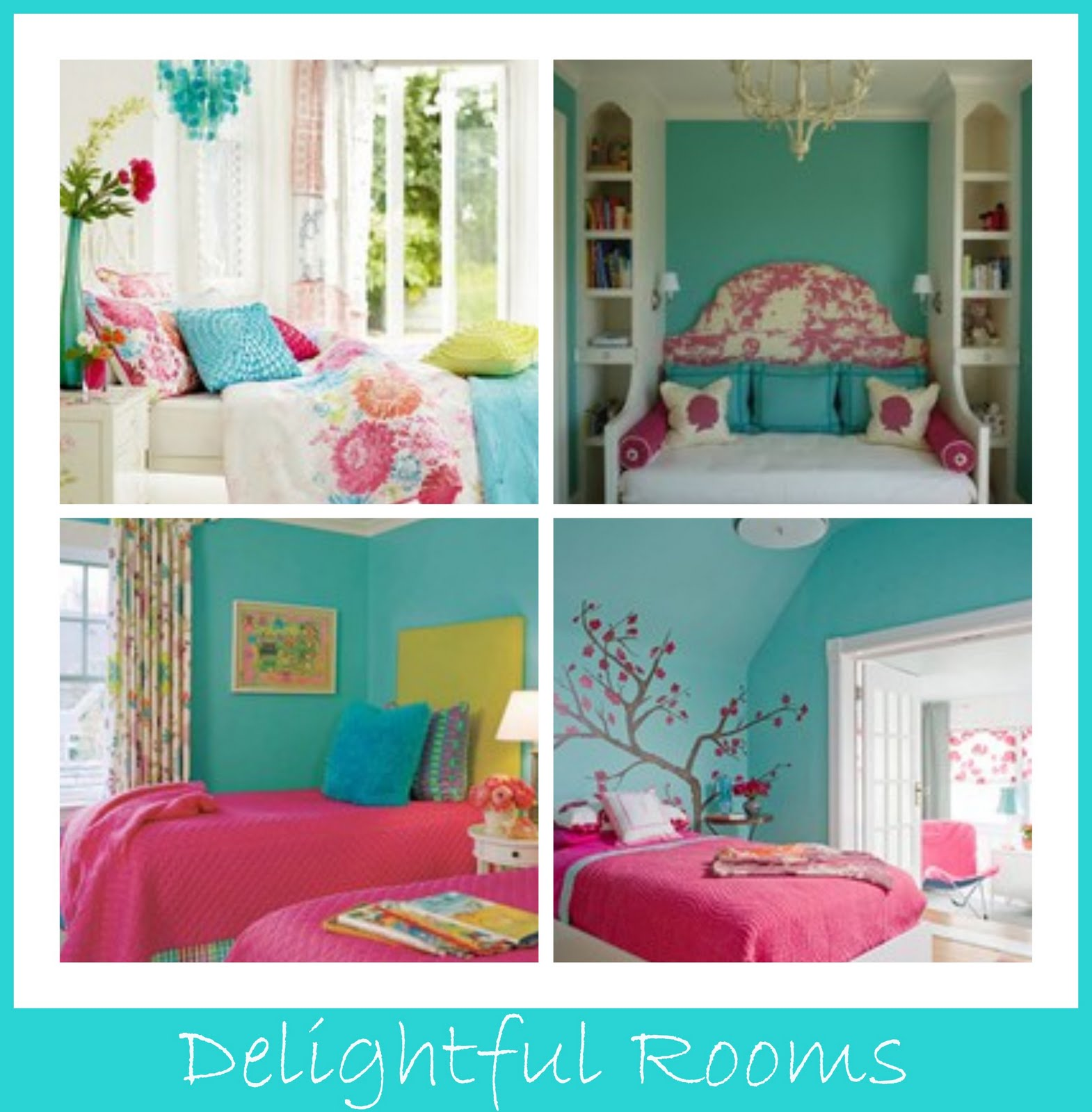 Goosie girl turquoise pink pretties - Turquoise and pink bedroom ...
