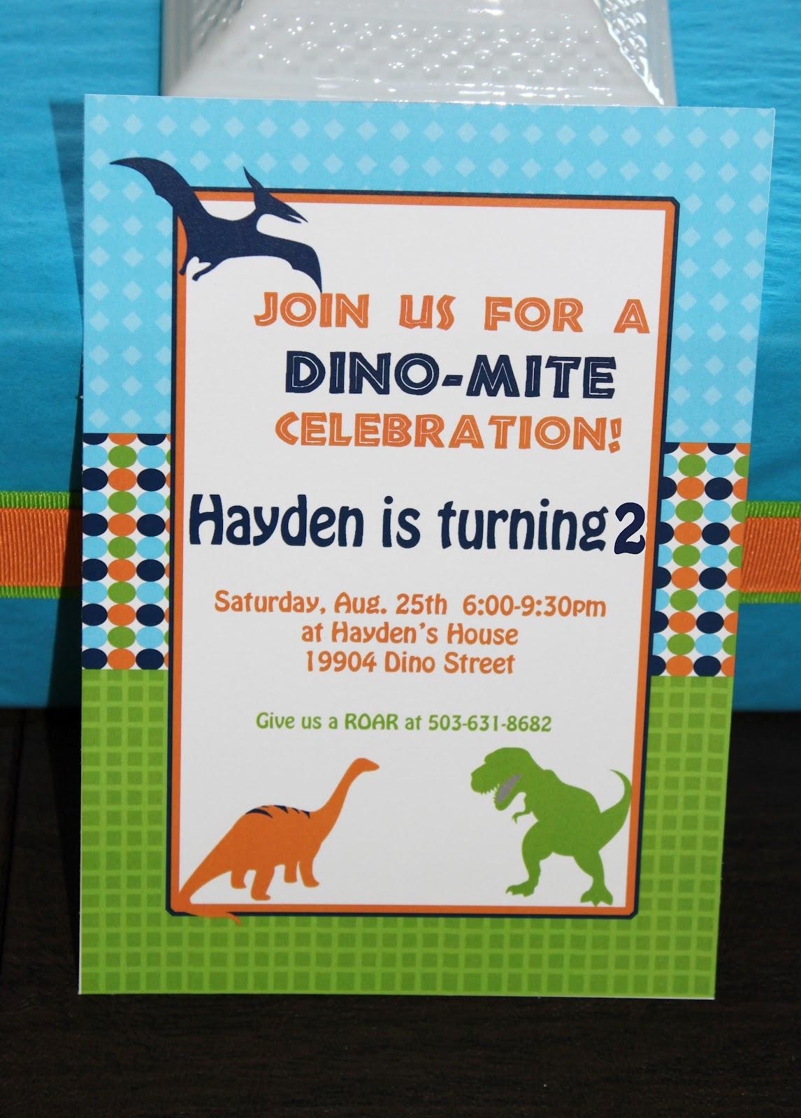 Hayden's 2nd Dinosaur Birthday Party!!
