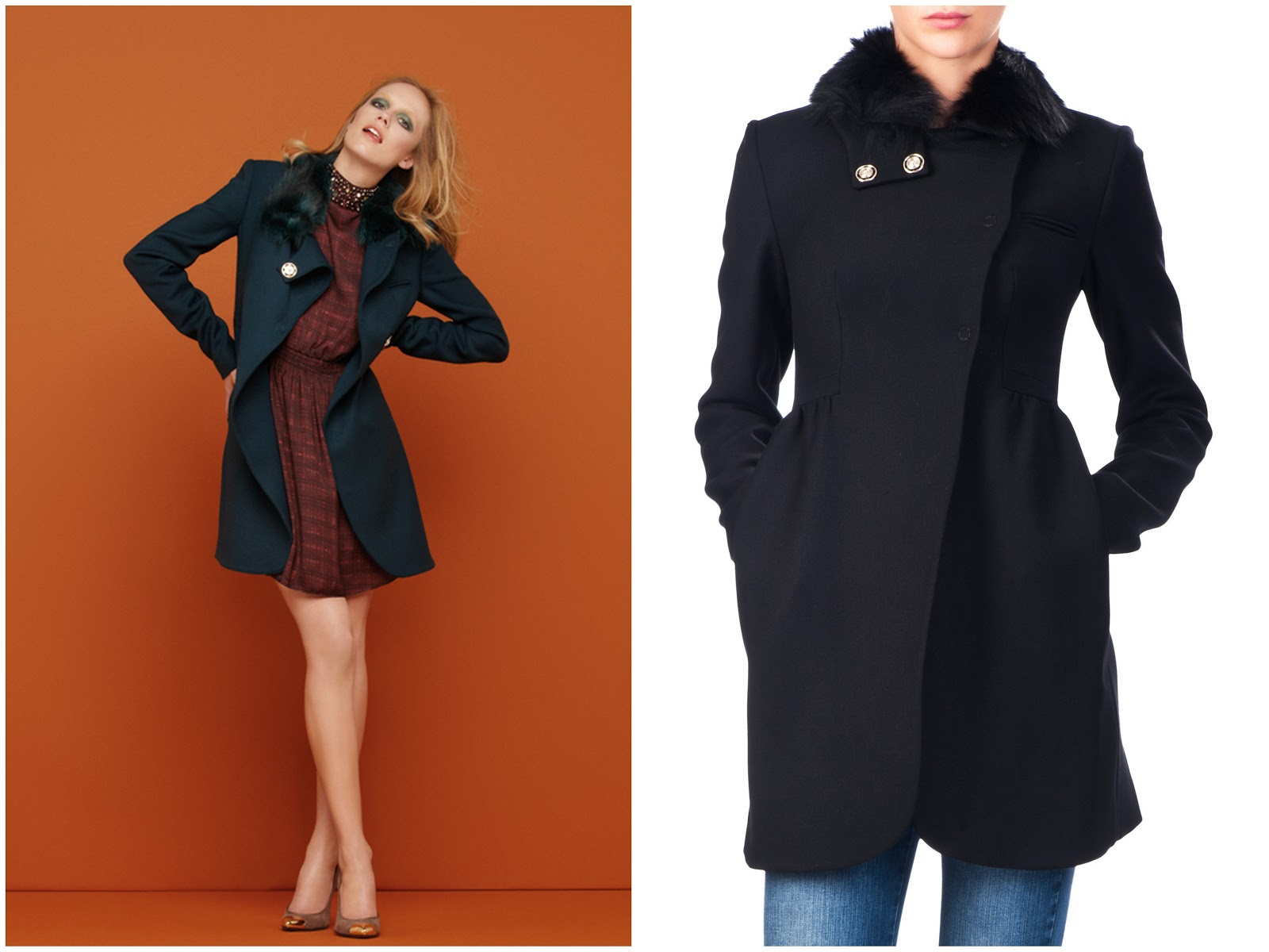 cappotto nero avvitato