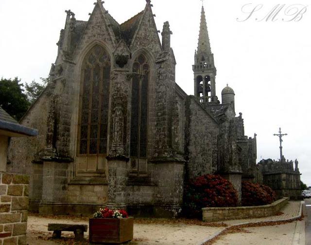 Bench, Église Notre-Dame de Confort, Confort-Meilars Finistère, France