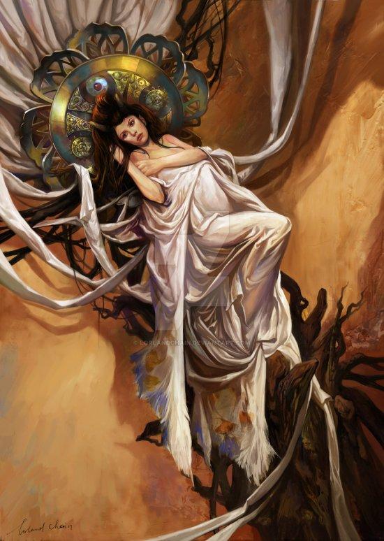 Chen Wei lorlandchain deviantart ilustrações fantasia chinesa estilo clássico pintura digital