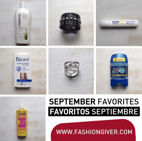 Productos favoritos septiembre