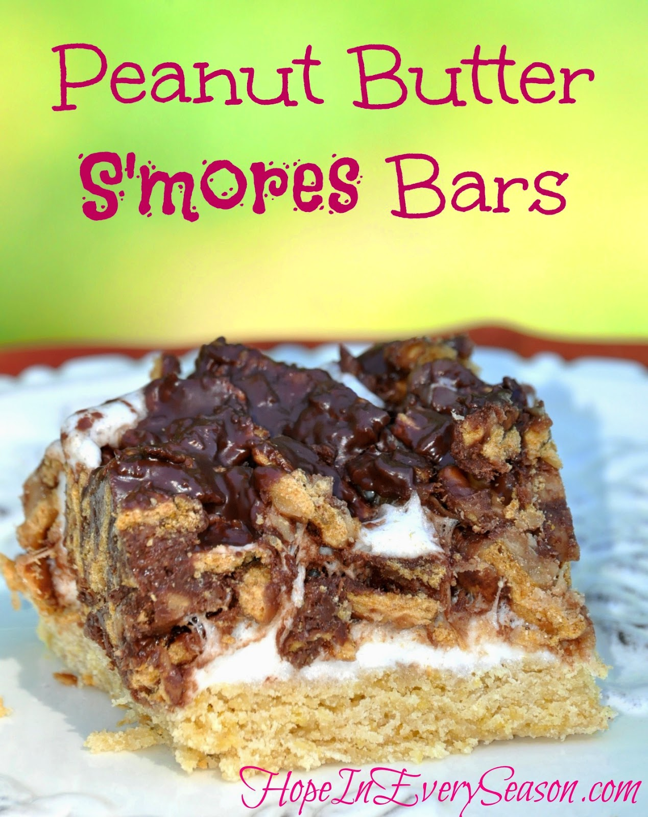 Or these Peanut Butter S'mores Bars ...