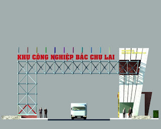 Bán ý tưởng thiết kế Cổng Khu Công nghiệp