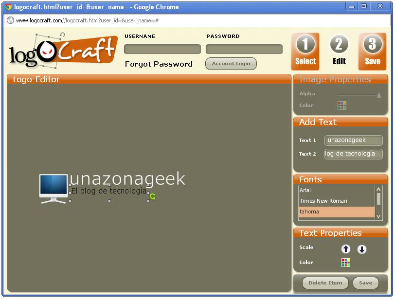 Logocraft generador de logotipos gratuito de 3 simples for Generador de logos