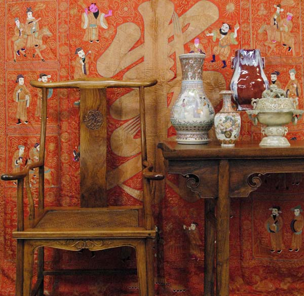 como decorar con muebles chinos silla ming madera natural
