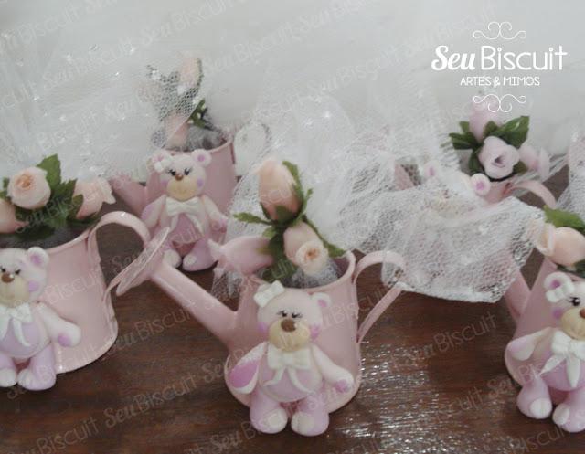 fofo, decoração, festa infantil, menina, lindo, ideia, ursinho rosa, regadores