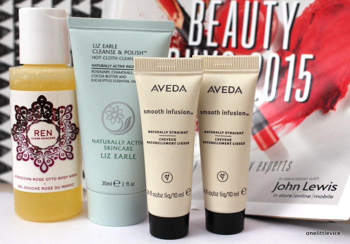 One Little Vice Beauty Blog: Liz Earle Cleanse and Polish Aveda Smooth Infusion review