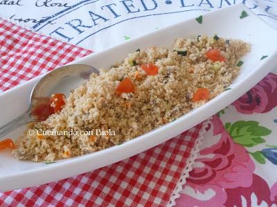 couscous alle vongole e verdure con dadolata di pomodorini