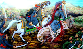 Maharana Pratap killing his enemy