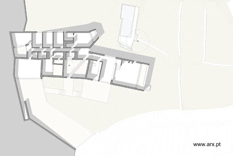 Plano de arquitectura planta de la casa de campo en Portugal