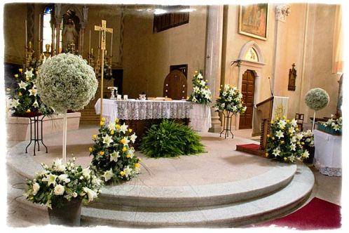 Decorating The Church For A Wedding