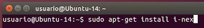 sudo apt-get install i-nex