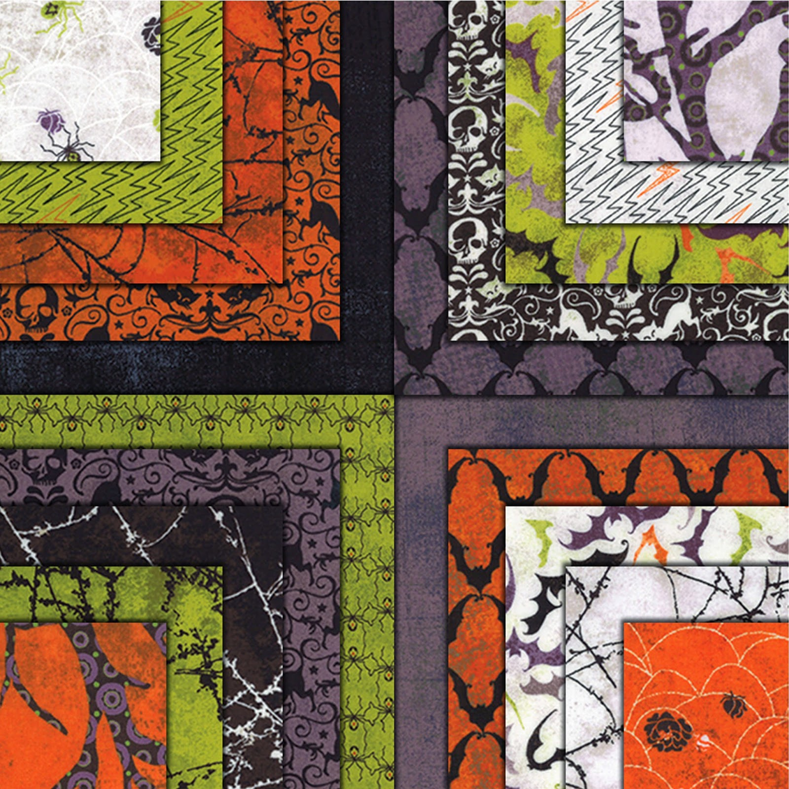 Moda EERIE Halloween Quilt Fabric by Basic Grey for Moda Fabrics