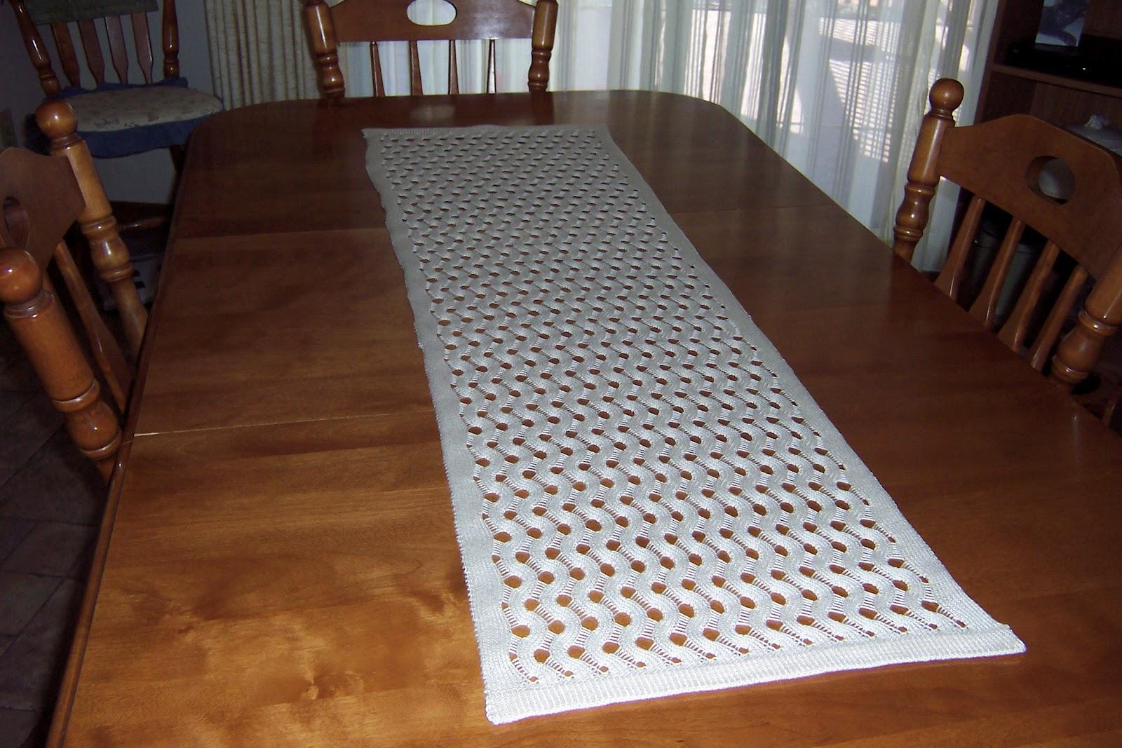 Marg 39 s knitting place table runner project for Table runner
