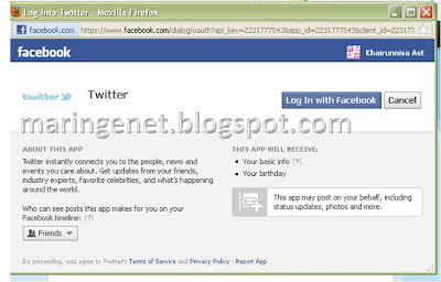 Update Facebook Lewat Twitter, Update Facebook via Twitter