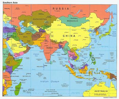 Mapa de Asia Imagen