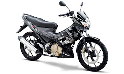 Warna Satria FU Titan Black - Metallic Dark Grey