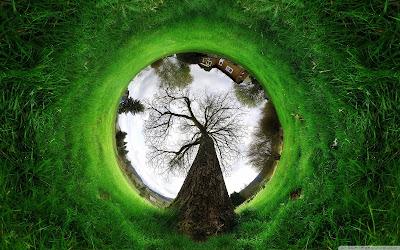 landscape through a lens wallpaper