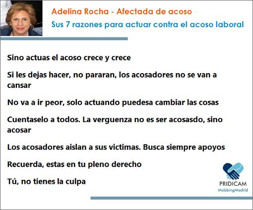 Entrevista Denuncia a Adelina Rocha, afectada de mobbing. Sus 7 razones para actuar contra el acoso