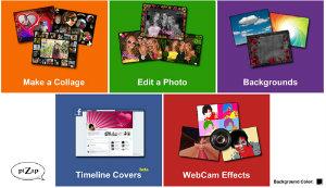 edita y retocas tus fotos gratis con Pizap
