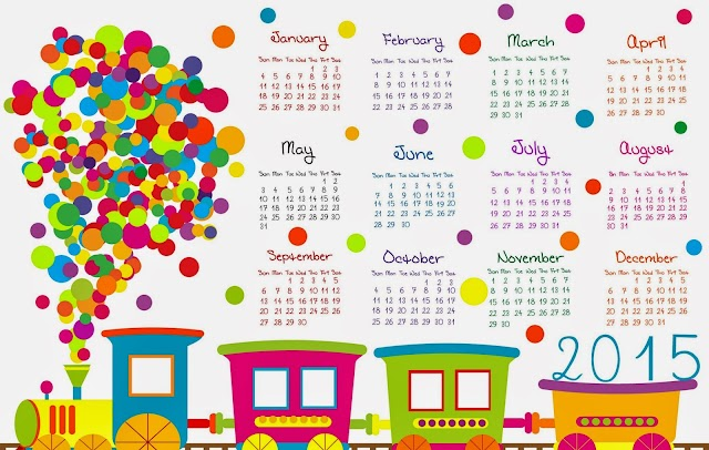 Free 2015 Colour New Year Calender download