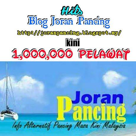 Hits Pelawat Blog Joran Pancing capai 1 Juta