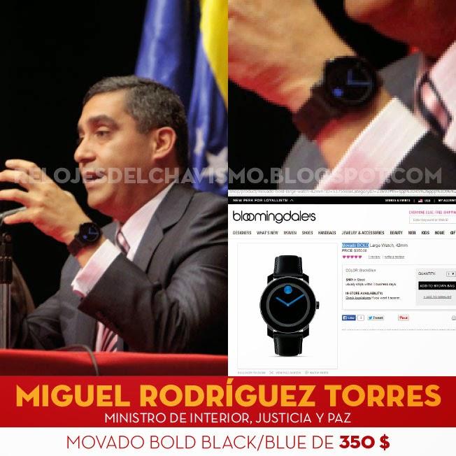 Los relojes del chavismo el ministro miguel rodr guez for Quien es el ministro de interior